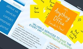 The Anything Office site is a clean, modern and compact design with a load of dynamic content presentation and a secure client portal